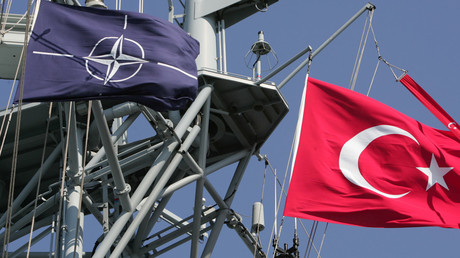 Turkish and NATO flags © Fatih Saribas