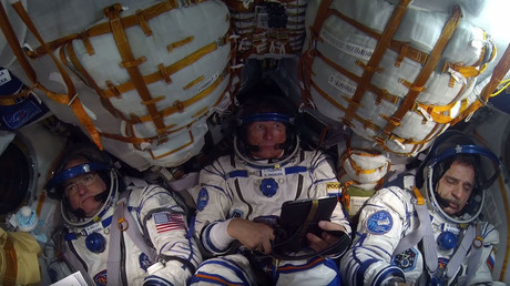 'Why the f*** did I go? 'Cause once you lie on the sofa, you're dead': Cosmonauts chat on way to ISS