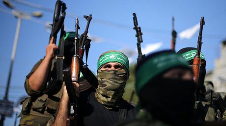 Hamas militants. ©Ibraheem Abu Mustafa