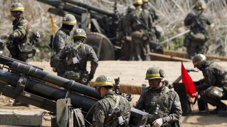 South Korean soldiers of an artillery unit take part in a drill. File photo. © Kim Hong-Ji