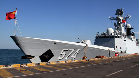 A Chinese navy ship. © Samrang Pring