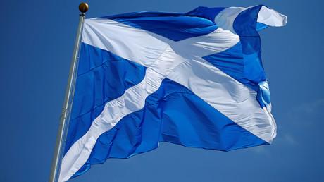 The Scottish flag © Carlo Allegri