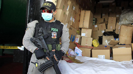 A Philippine Drug Enforcement Agency (PDEA) agent. © Romeo Ranoco
