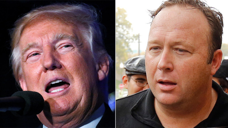 Conspiracy theorist Alex Jones claims he's been advising Donald Trump