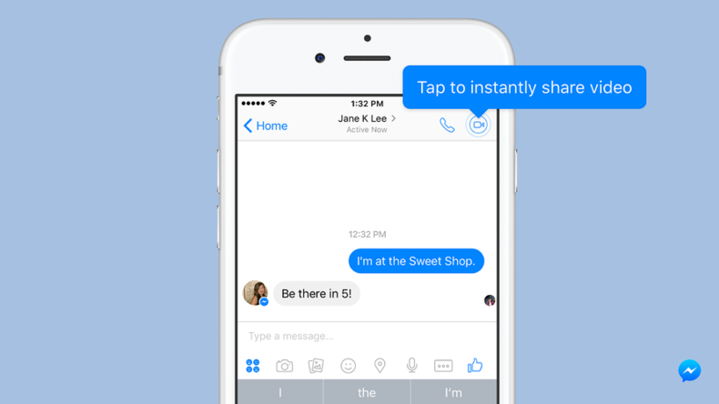 Press and stream: Facebook brightens up messenger chats with 'instant video'