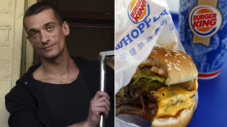 Artist who nailed scrotum to Red Square gets 'tribute' menu at Burger King