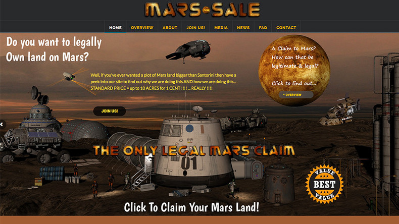 Want to buy land on Mars? British doctor sells Red Planet one acre at a time