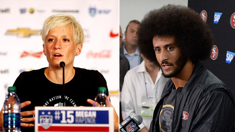 US women's soccer star Rapinoe joins Kaepernick anthem protest
