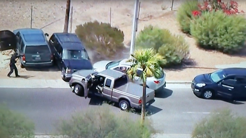 Suspect shot dead on live TV after police car chase (GRAPHIC VIDEO)