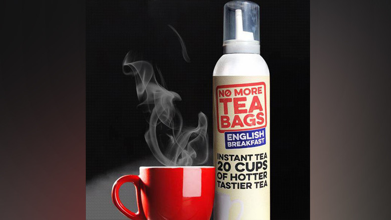 Aerosol 'tea in a can' ruins the experience for tea-baggers everywhere