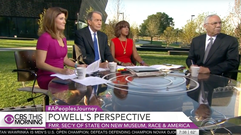 'You dropped bombs on Iraq': Colin Powell heckled by protester on live TV (VIDEO)