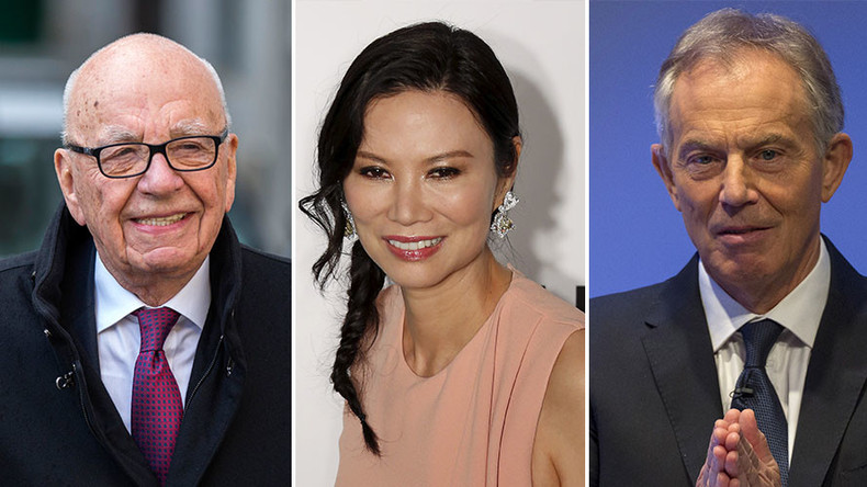 Love triangle? Murdoch 'badly hurt' by closeness of Tony Blair and ex-wife Wendy Deng
