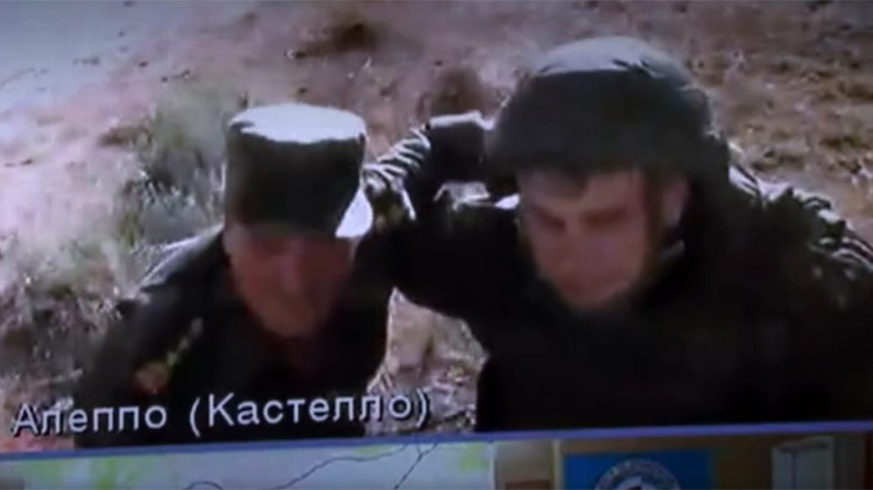 VIDEO: Russian, Syrian officers fall under fire during video link with Moscow