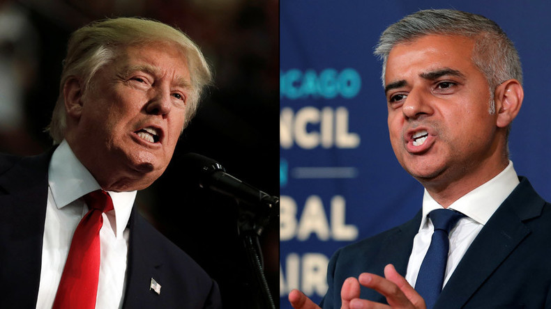 London's Muslim mayor Sadiq Khan accuses Trump of 'playing into hands of ISIS' on US visit