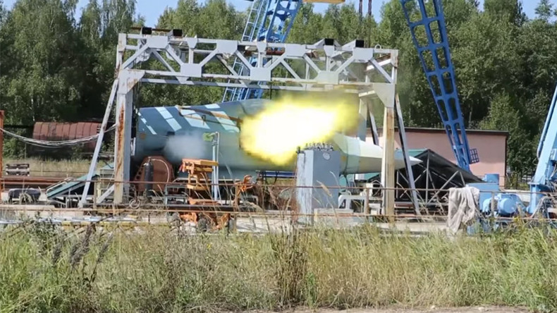 5G fighter's rapid-fire cannon test-fired in Russia (VIDEO)