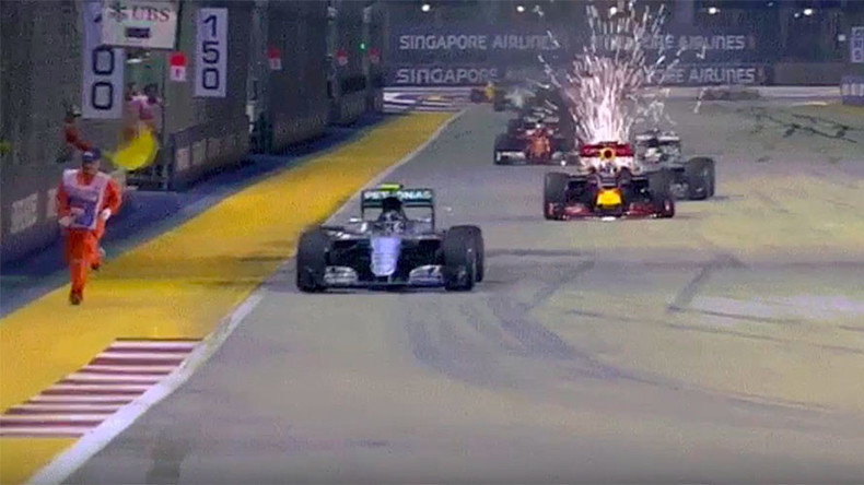 FIA launches investigation after cars narrowly avoid hitting marshal at Singapore Grand Prix