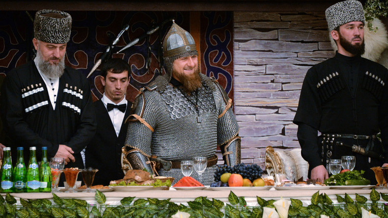 Chechnya leader Kadyrov celebrates Women's Day in suit of armor (VIDEO)