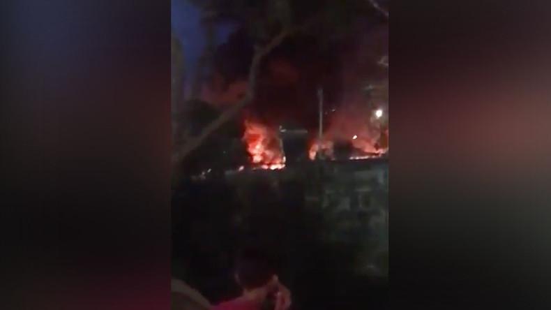 Thousands evacuated as major fire engulfs Greek refugee camp