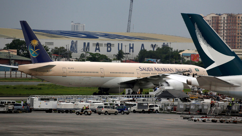 Saudi Arabian Airlines jet 'isolated' in Philippines due to false hijacking alarm