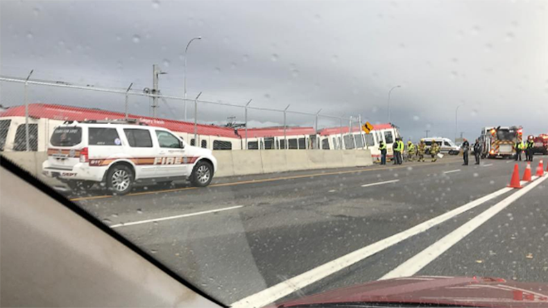 Train derails & crashes in Canada, driver seriously injured (PHOTOS)