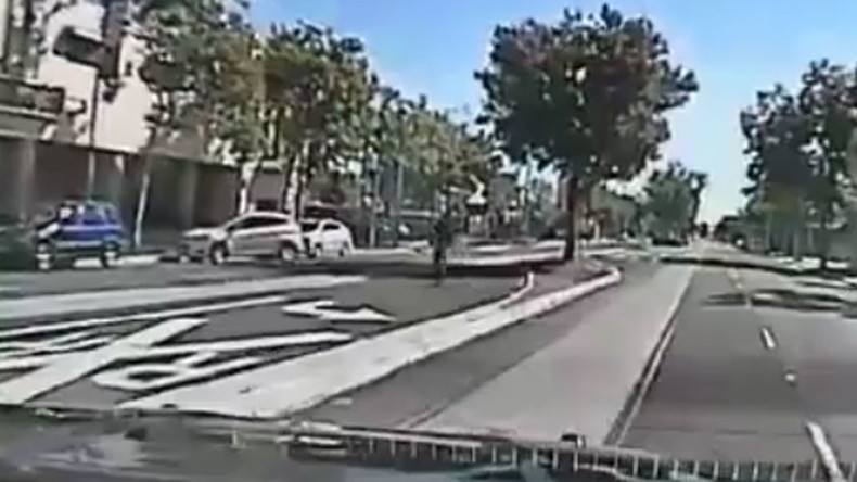 Dashcam shows mentally-ill man shot 14 times as he flees Sacramento police (GRAPHIC VIDEOS)