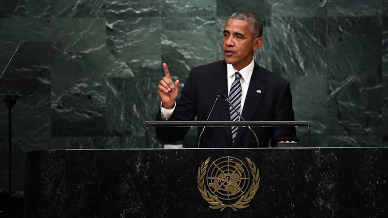 'Peace president' Obama takes parting shot at Russia in UN finale