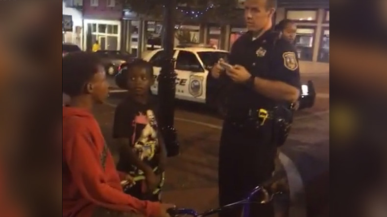 'Leave those kids alone': Cop trolled live on Facebook for stopping black children (VIDEO)