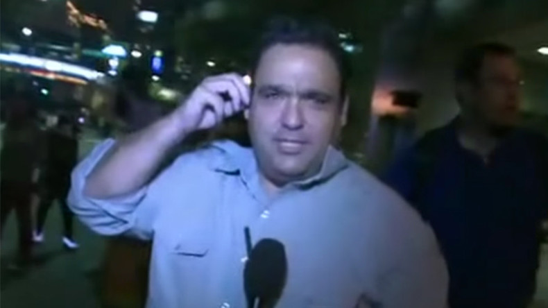 Reporter taken out by aggressive Charlotte protester live on air (VIDEO)