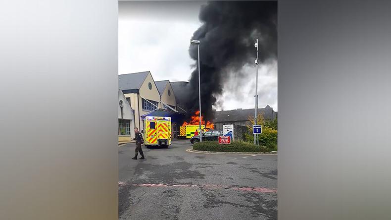Ambulance explodes outside hospital, killing patient (VIDEOS)