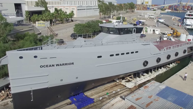 Anti-whaling activists step-up campaign with custom-built Ocean Warrior ship (VIDEO)