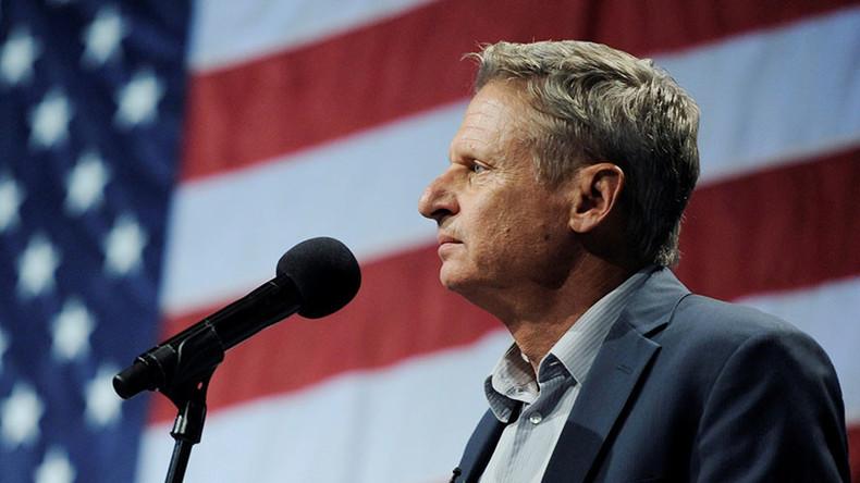 Libertarian candidate Gary Johnson holds pre-debate online