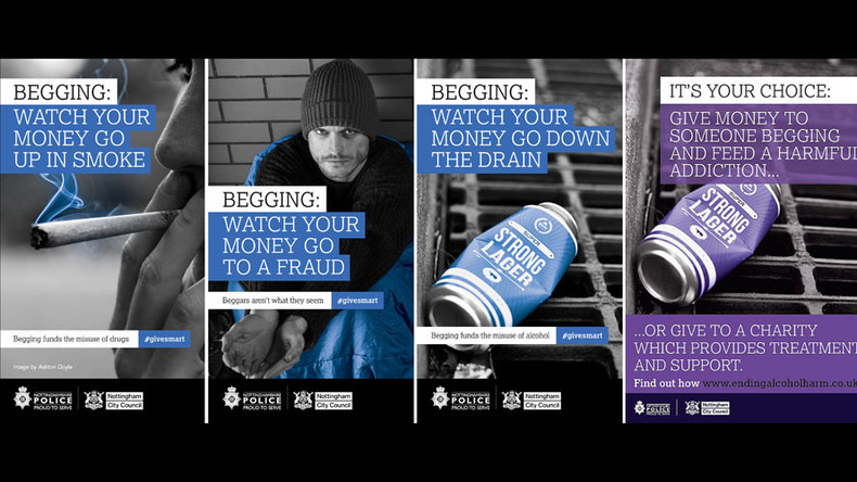 Anti-begging posters banned for unfair treatment of 'vulnerable' homeless