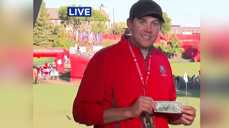 US fan wins bet after heckling top European golfer at the Ryder Cup (VIDEO)