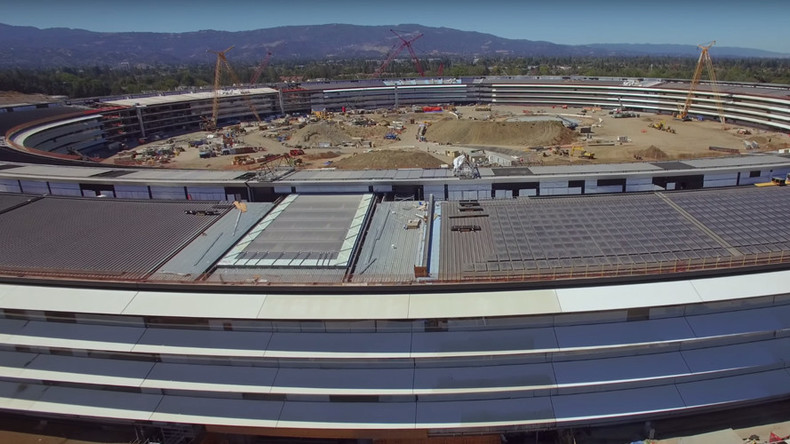 Apple 'spaceship' prepares for takeoff: Drone shows progress of billion dollar campus (VIDEO)