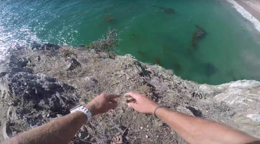 'Minor scrape': Daredevil makes insane cliff jump in California (VIDEO)