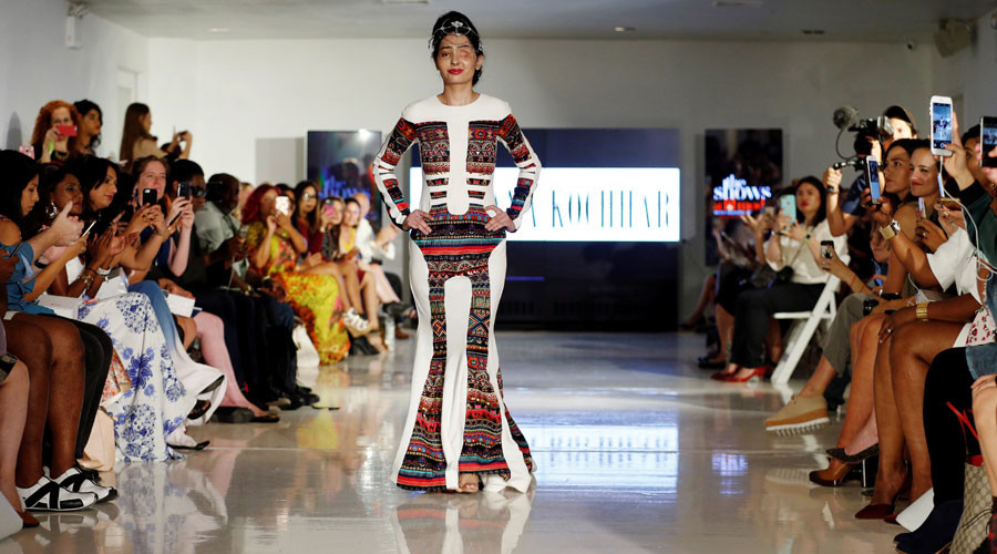 Indian acid attack survivor redefines beauty on runway during New York Fashion Week