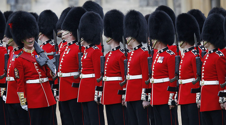 Not to be sniffed at: Queen's Guards filmed 'snorting powder' off a sword in St. James's Palace