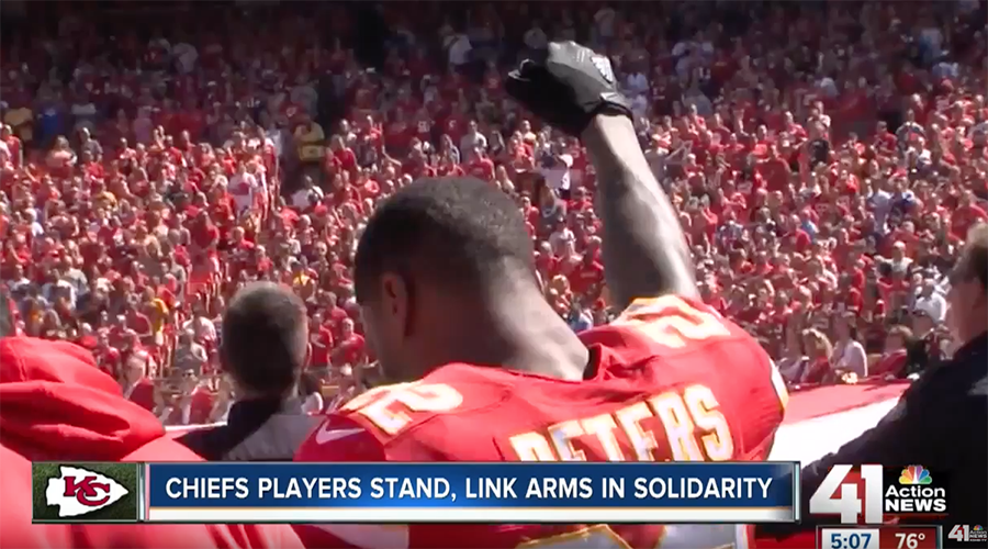More NFL players join US anthem protest on 15th anniversary of 9/11