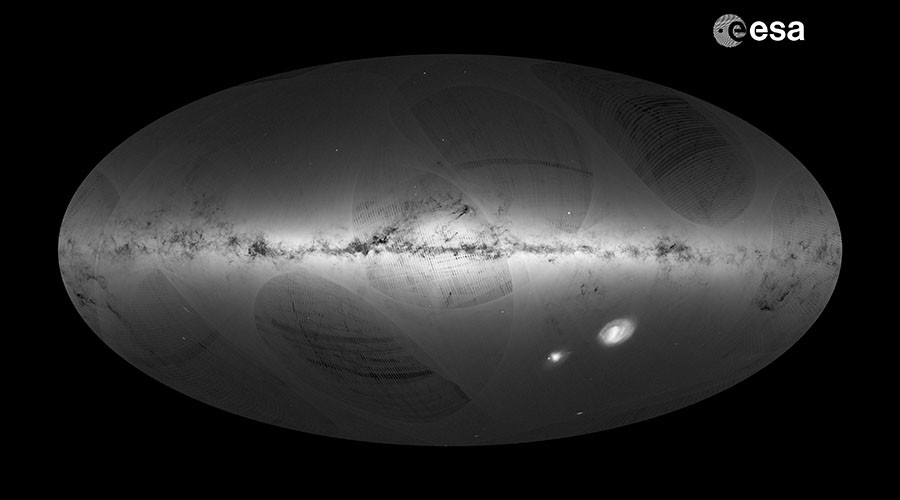 'Galactic census': 1bn stars mapped by Gaia satellite (VIDEO)