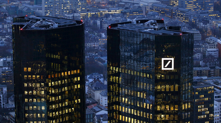 Deutsche Bank shares plummet to record low as Merkel rules out bailout
