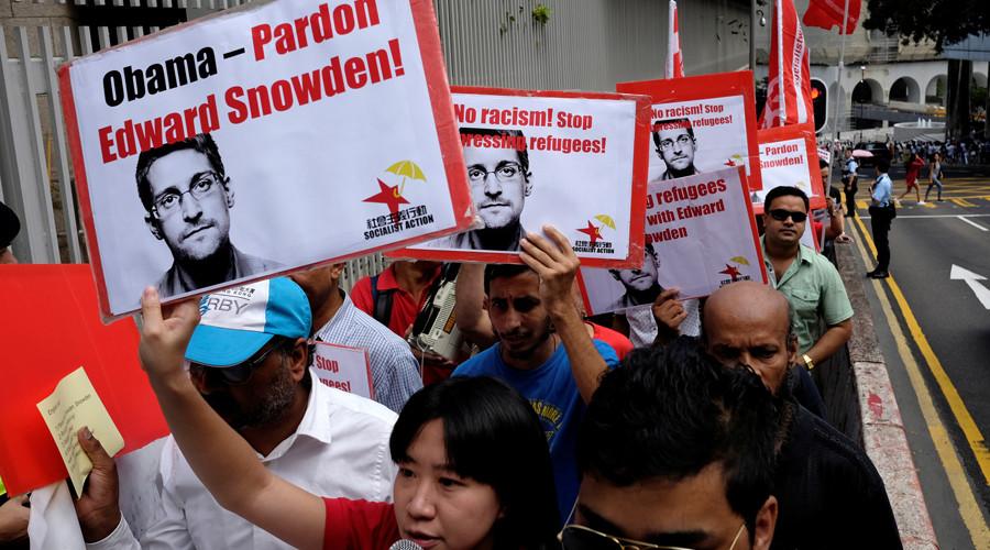 'Pardon Snowden!' Hong Kong refugees march on US consulate (PHOTOS)