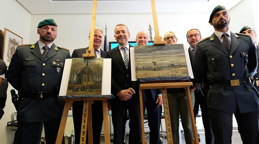 Stolen Van Gogh paintings found in Italian drug lord's house 14 years after heist