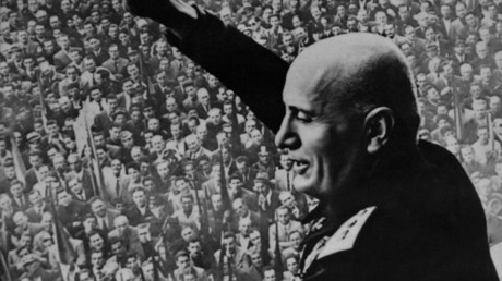 A hidden message by Italian fascist dictator Benito Mussolini has been revealed.  © AFP