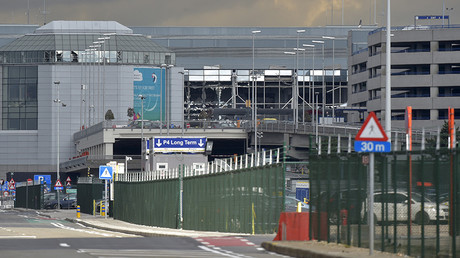 FILE PHOTO: Empty airport road and broken windows are seen at the scene of explosions at Zaventem airport near Brussels following Tuesday's bomb attacks, Belgium, March 23, 2016 © Eric Vidal
