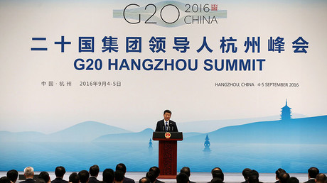 China's President Xi Jinping speaks at a news conference after the closing of G20 Summit in Hangzhou, Zhejiang Province, China, September 5, 2016. © Damir Sagolj