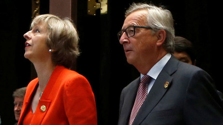 Britain's Prime Minister Theresa May and European Commission President Jean-Claude Juncker © Aly Song