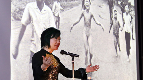 Phan Thi Kim Phu is better known to the world as 'Napalm girl' from the iconic photo ©  JIJI Press