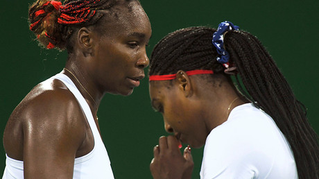 Serena Williams (USA) of USA and Venus Williams (USA) of USA © Toby Melville