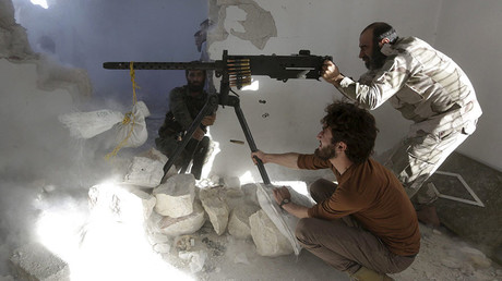 Free Syrian Army fighters. © Hosam Katan