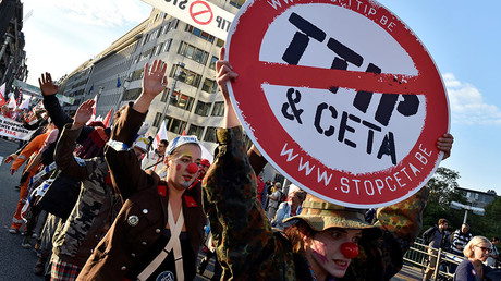 Thousands march against TTIP, CETA trade deals in Brussels (PHOTOS, VIDEOS)